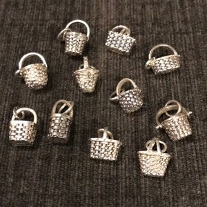 Jewelry - 11 sterling silver basket charms! Most marked 925